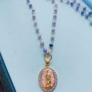 Dreamy Mary (purple opal) necklace