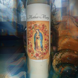 Mother Mary Ritual Candle With Roses (includes dropper oil)